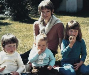 Mum and her three mini-mes